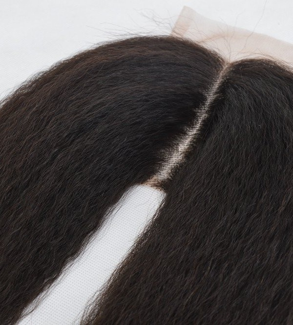 kinky-straight-coarse-yaki-lace-closure-4-4-size-free-middle-three-part-Brazilian-hair (4)